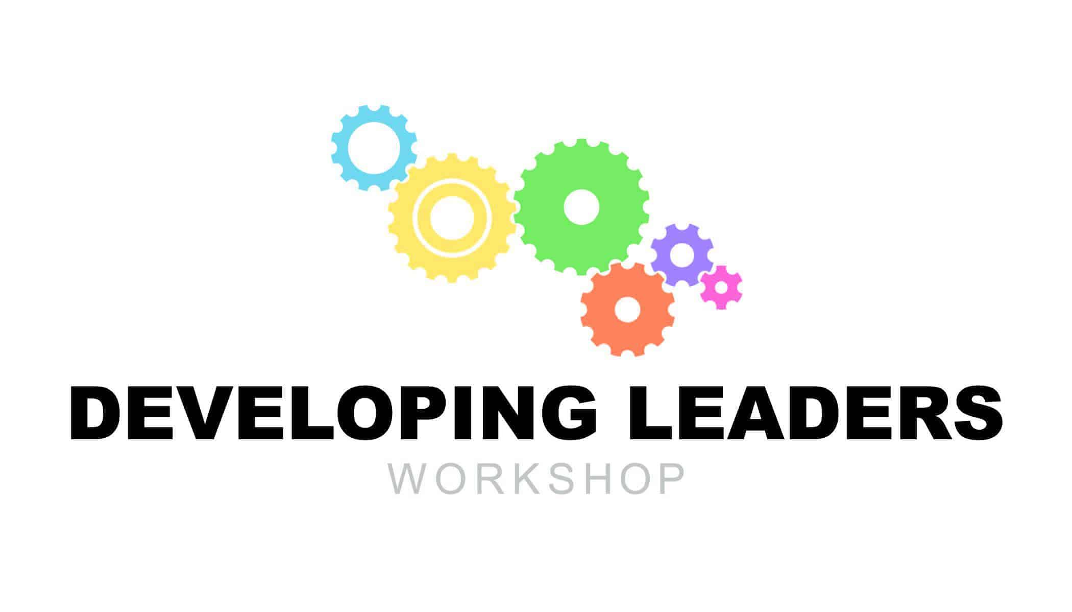 developing leaders workshop logo with five colored gears